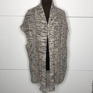 MAURICES Marled Cascading Open Cardigan